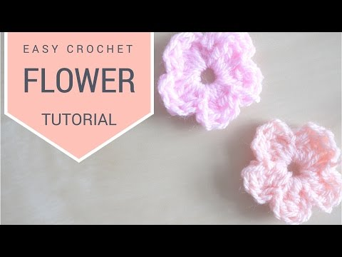CROCHET: Simple Flower tutorial | Bella Coco