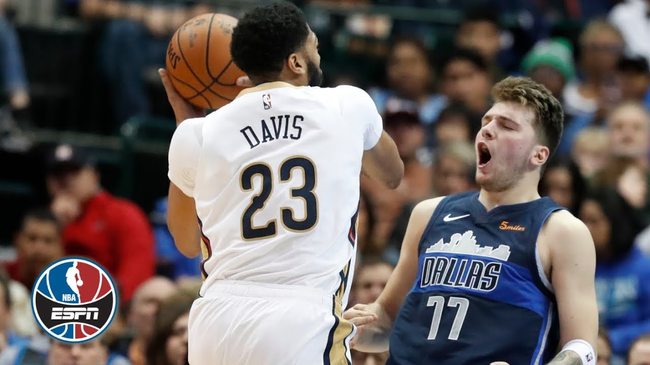 Luka Doncic, Anthony Davis go back-and-forth as Mavericks edge Pelicans | NBA Highlights