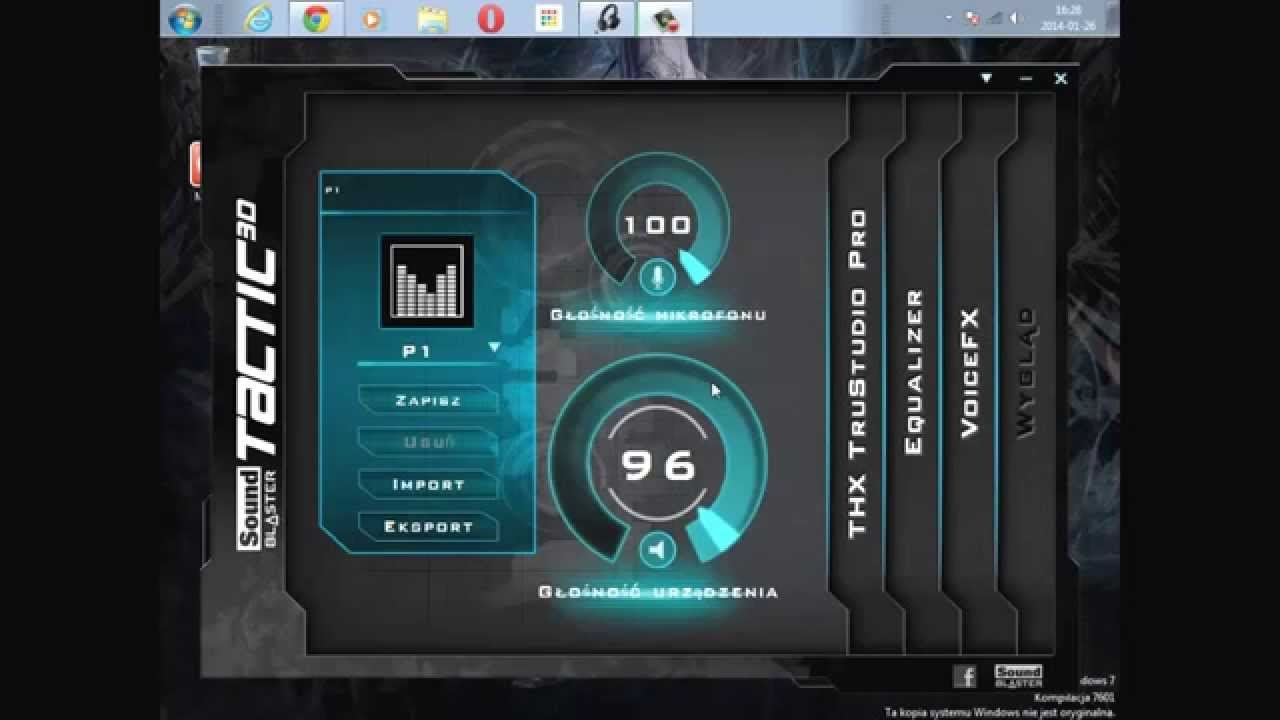 Creative sound blaster tactic 3d sigma driver.