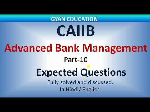 CAIIB Expected Questions for Dec 2018 | ABM | Part-10