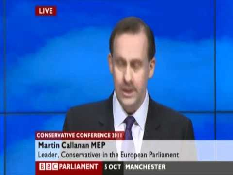 Martin Callanan MEP - speech to Conservative Party Conference