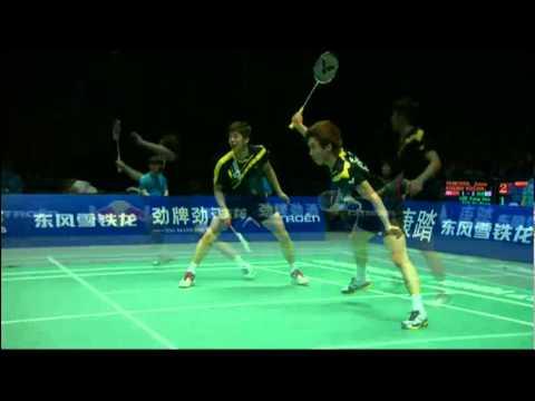 Semi Finals - Denmark (Rasmussen/Fischer Nielsen) vs Korea (Lee/Kim) - Thomas Cup 2012