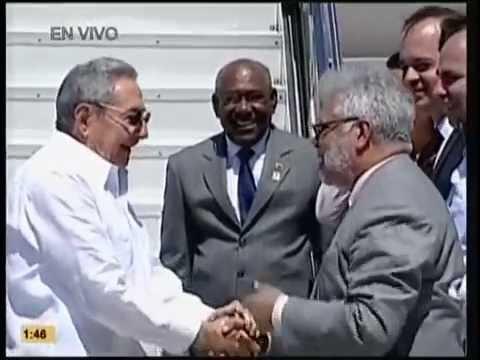 Llegada de Raúl Castro a Isla Margarita, Venezuela a Cumbre de NOAL