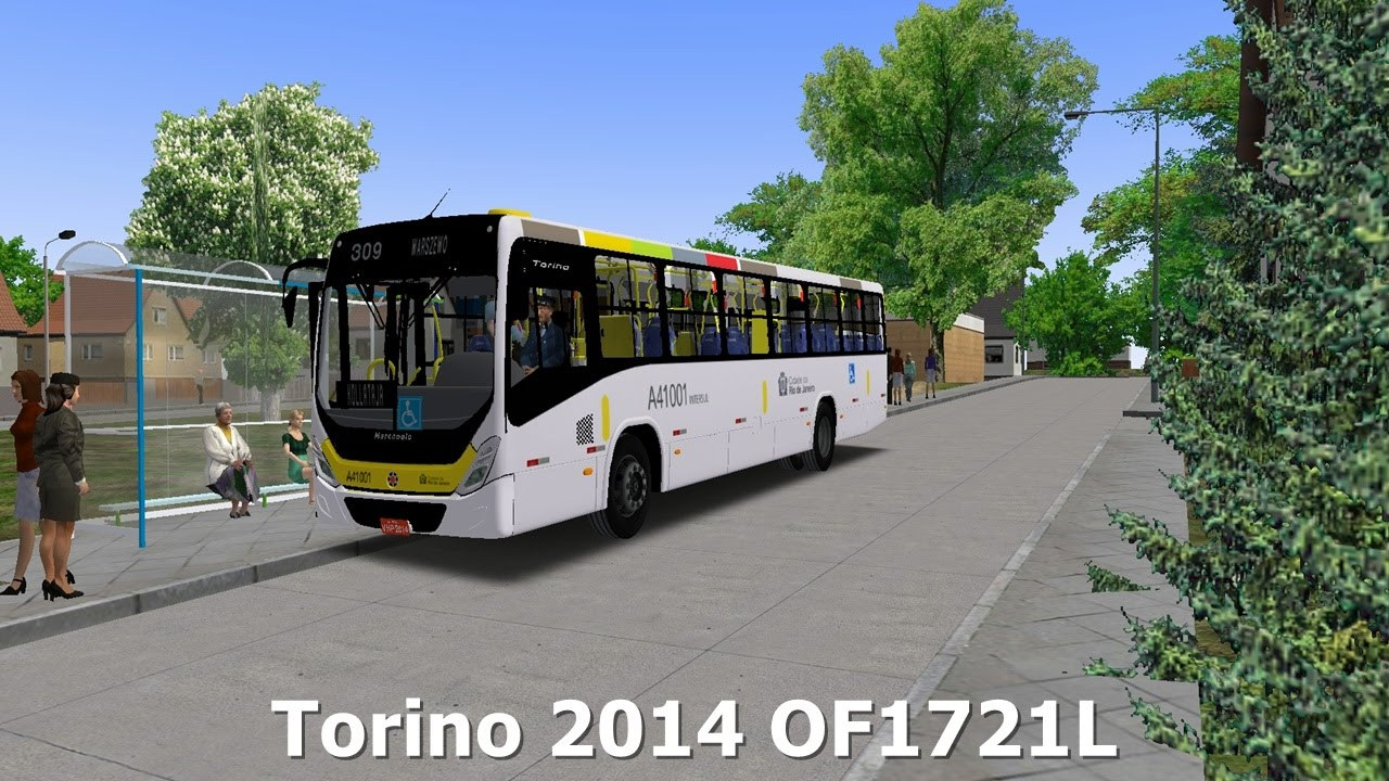 OMSI 2 - MARCOPOLO Torino 2014 MB OF-1721L [+DOWNLOAD] - YouTube