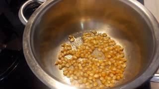 Tencerede Mısır patlatma - pop corn - en kolay patlamış mısır tarifi #altyazılı