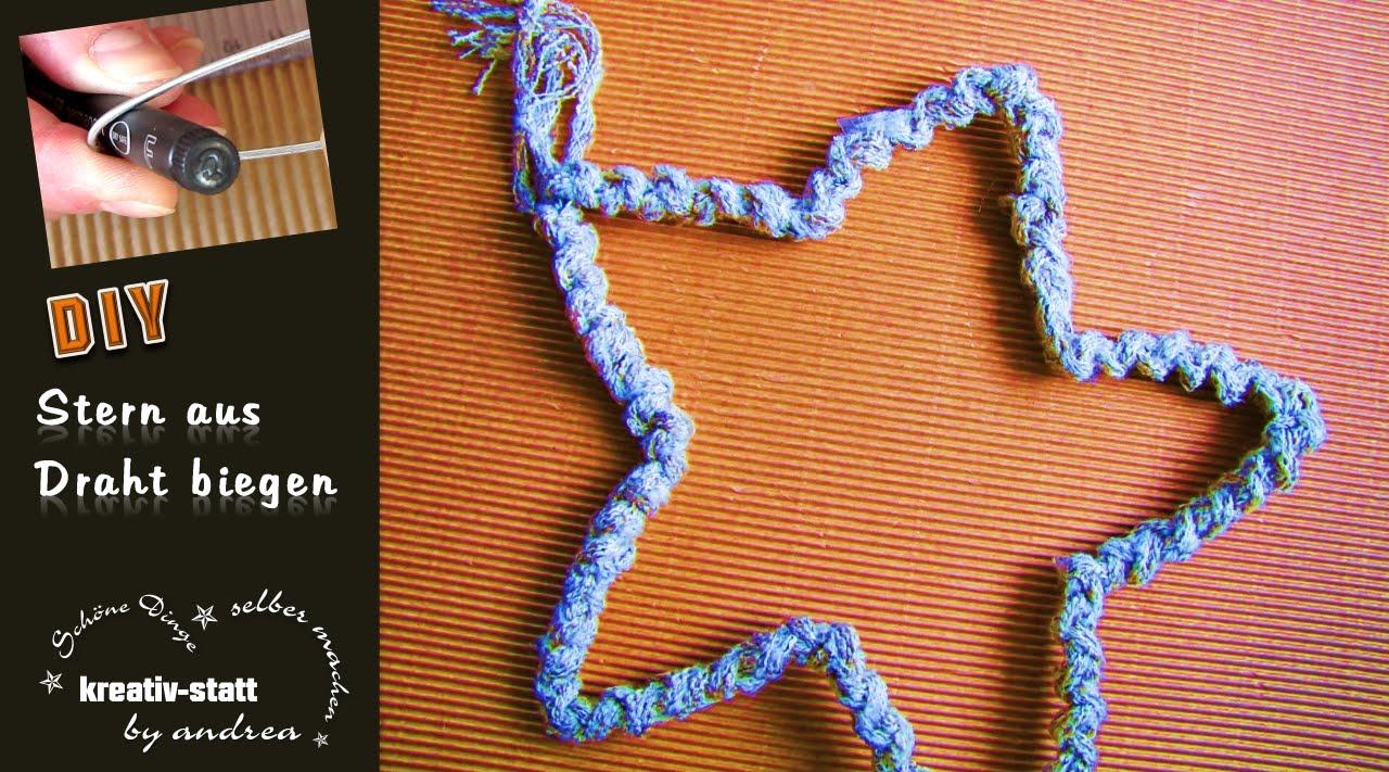 DIY Basteln - Stern aus Draht biegen / Crafts - DIY Star of Wire ...