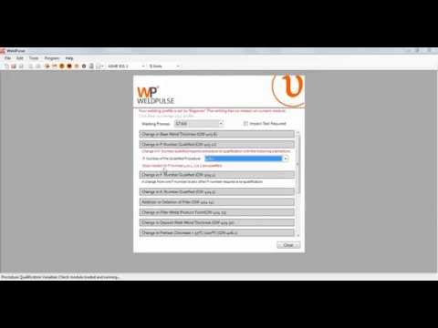 Change in P number and F number for GTAW (WeldPulse Software)