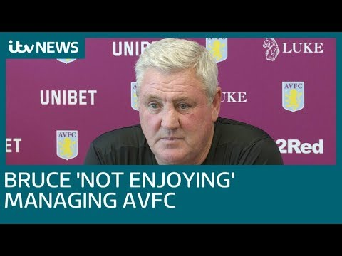 In full: Steve Bruce admits he\'s not enjoying managing Aston Villa | ITV News