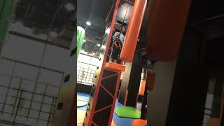 Latest Function Jump Tower With Auto Belay Inside A Amusement Park