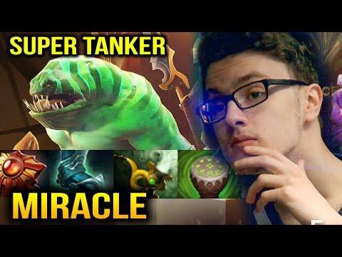 MIRACLE: Tidehunter SUPER TANKER Dota 2 Plus 7.10