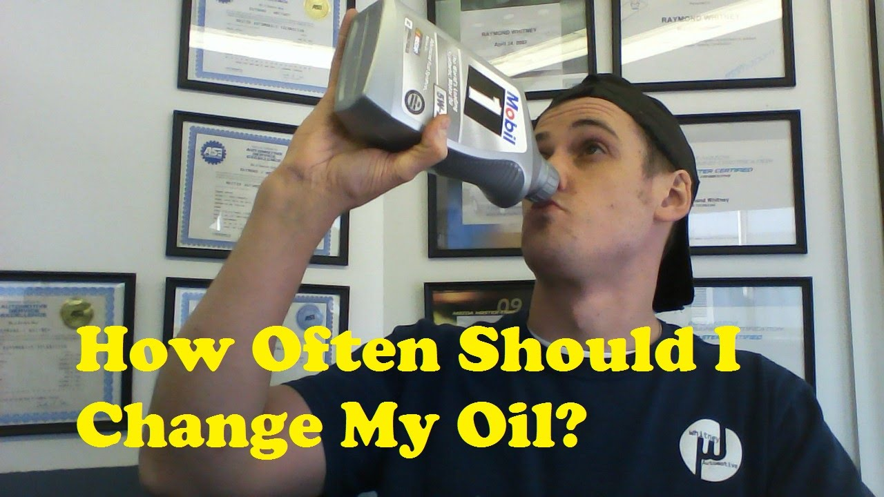 How often do I change the oil in the engine of the machine