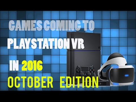 All Vr Games Coming To Ps4 In October Youtube