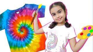 Şimal made batik t-shirts with colored paints - Rainbow Tie Dye