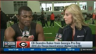 CB Deandre Baker from Georgia Pro Day   NFL Total Access