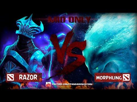 видео: razor vs morphling [Битва героев mid only] dota 2