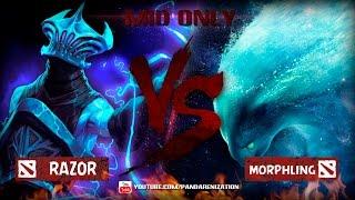 Razor VS Morphling [Битва героев Mid only] Dota 2