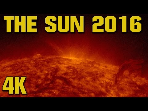 Unprecedented 4K View of the Sun 2016. One Month of Solar Actvitiy / Solar Astronomy / Flares CMEs