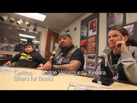 Badge, Kendra, Carlitos Velasquez - Bikers for Books - Lansing Online News Radio