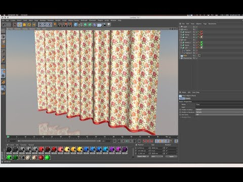CINEMA 4D TUTORIAL How to make Curtain with Loft