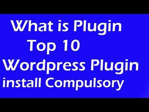 What is Plugin | Top 10 Wordpress Plugin install Compulsory | Wordpress Tutorial - 7 | Telugu thumbnail