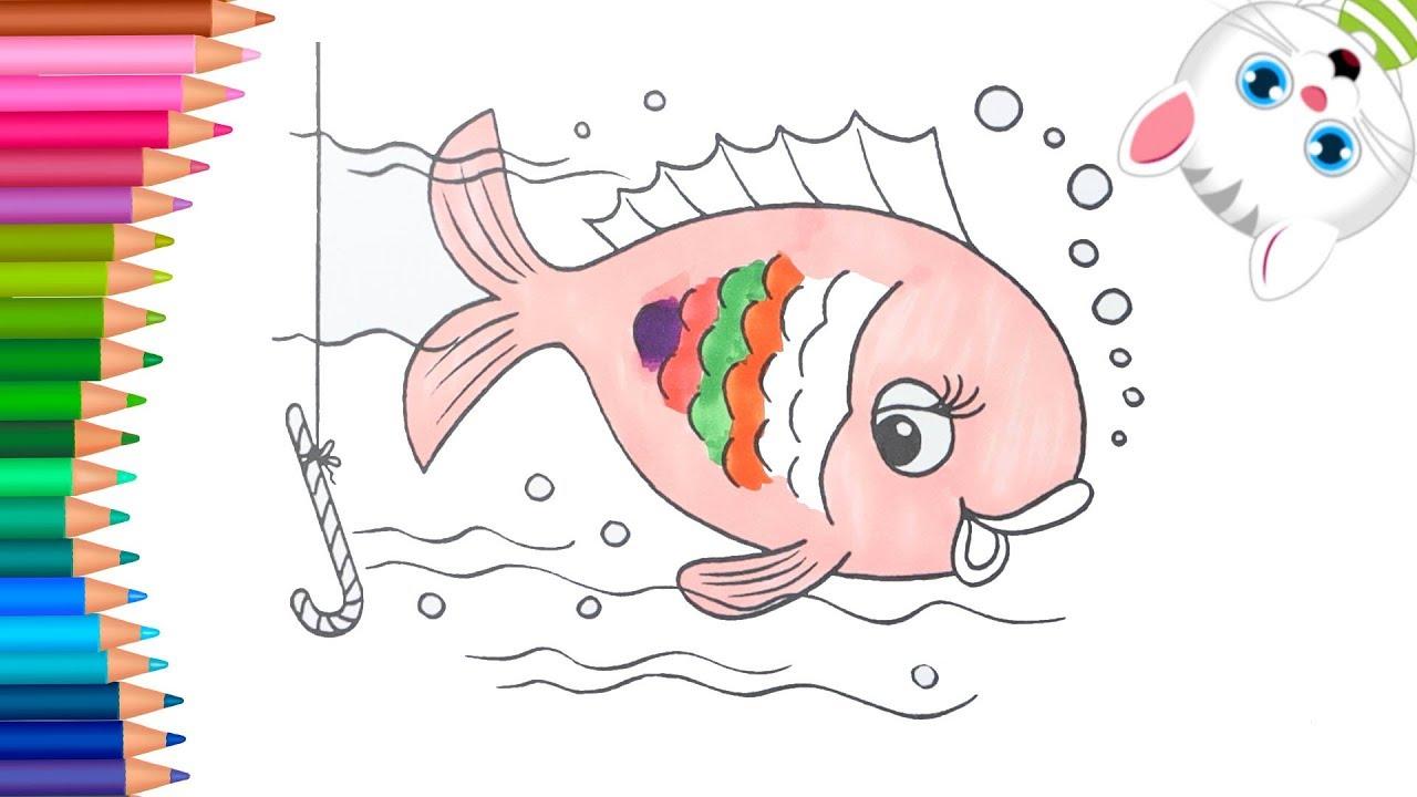 الرسم والتلوين للأطفال كيفية رسم الأسماك الملونة الرسم للأطفال الأطفال ألوان الفيديو Youtube