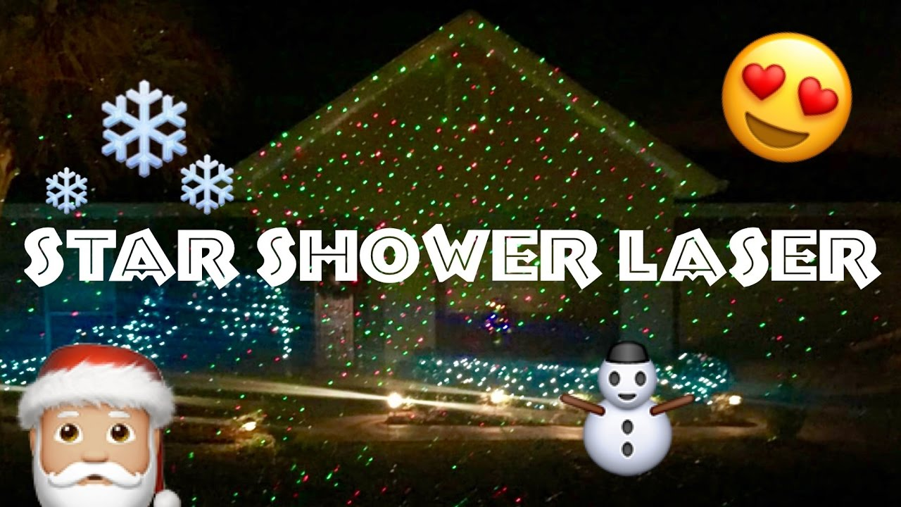 best christmas lightsxmas star shower laser light review for outdoor indoor home decoration youtube - Laser Lights Christmas Decorations