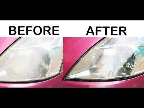 Headlights Cleaning    How to Restore your Headlights for FREE    Brand New Headlights