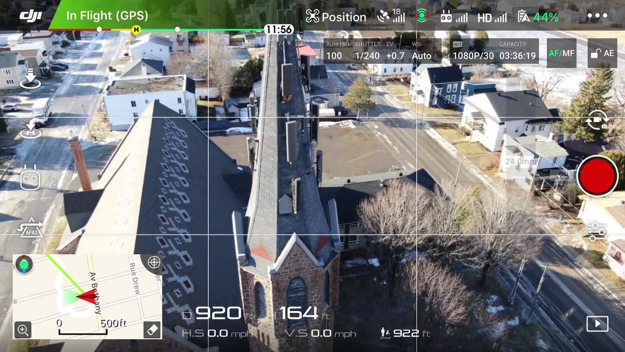 Drone Time with Telemetry Setting Displayed DJI Mavic 2 ...