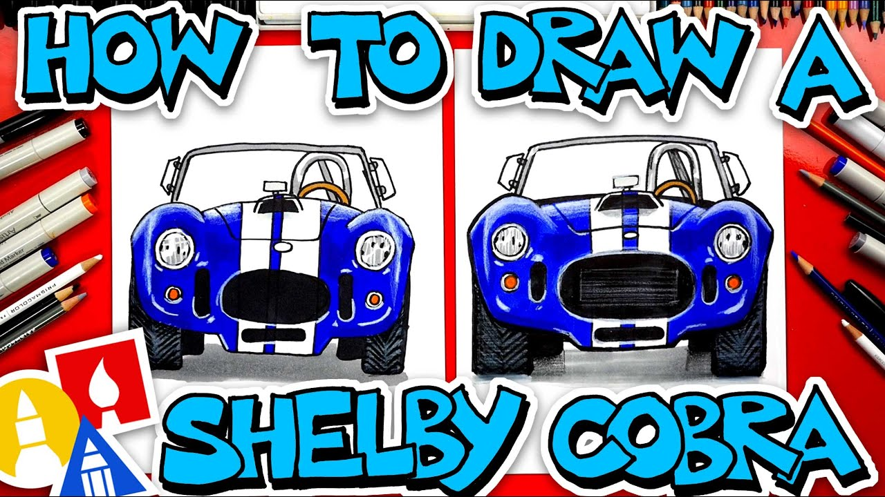 How To Draw A Shelby Cobra (Front View)