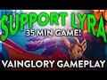 Vainglory    EPIC 35 Minute Support LYRA Gameplay *Vainglory Gameplay*