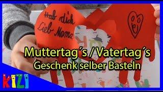 Kinderleichtes MUTTERTAG oder VATERTAG Geschenk SELBER Basteln // DIY Bastelideen DEUTSCH