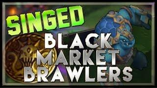 Black Market Brawlers Gameplay (Singed Top/Ironback Brawler) - League of Legends