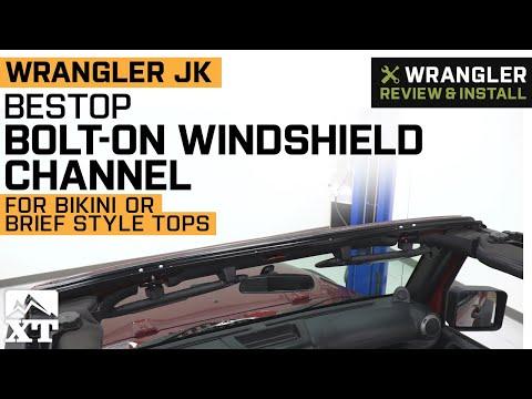 Bestop 51243-01 Windshield Channel Black for 2007 Wrangler /& Wrangler TJ