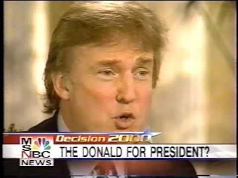 Donald Trump predicted his presidency in 2000 on MSNBC