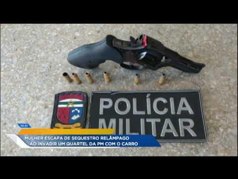 Vítima De Sequestro Relâmpago Invade Quartel Da PM Para Escapar De Bandidos
