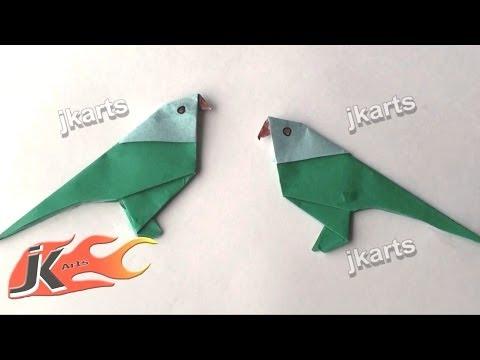 DIY How to: Make Origami Parrot - JK Arts 084