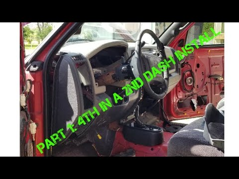 4th Gen Dash In A 2nd Gen Part: 1 Rip Out And Fitment