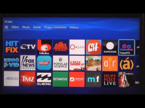 Sony BDPS3500 Bluray Player Apps Overview