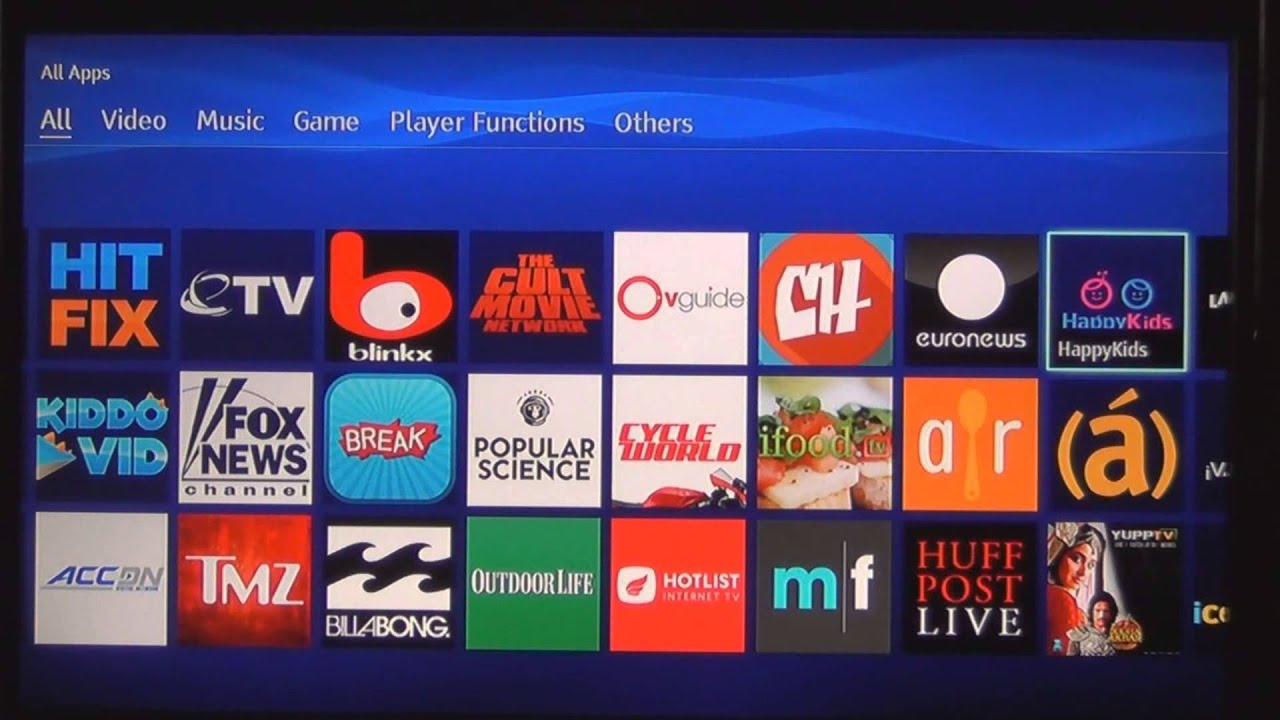 Sony BDPS3500 Blu-ray Player Apps Overview