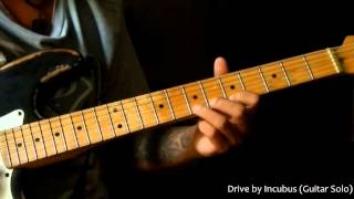 Drive by Incubus - Guitar Lead Solo Tutorial