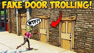 NEW *FAKE DOOR* TROLL! - Fortnite Funny Fails and WTF Moments! #295
