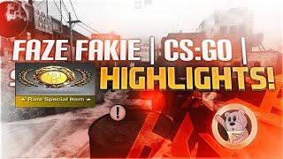 FaZe Fakie - CS:GO HIGHLIGHTS #2 w/LUCKY KNIFE UNBOXING!