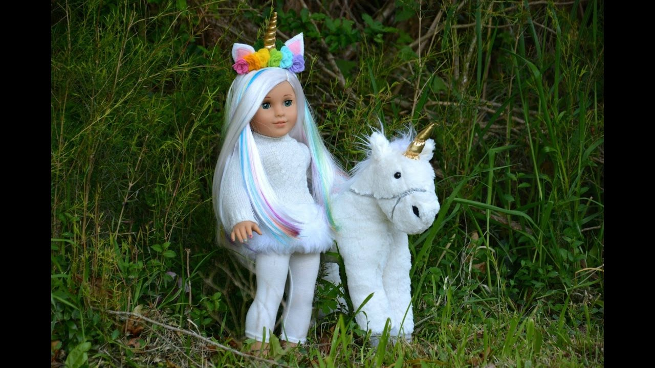 American Girl Unicorn Doll Fixing Up A Retired Ag Doll
