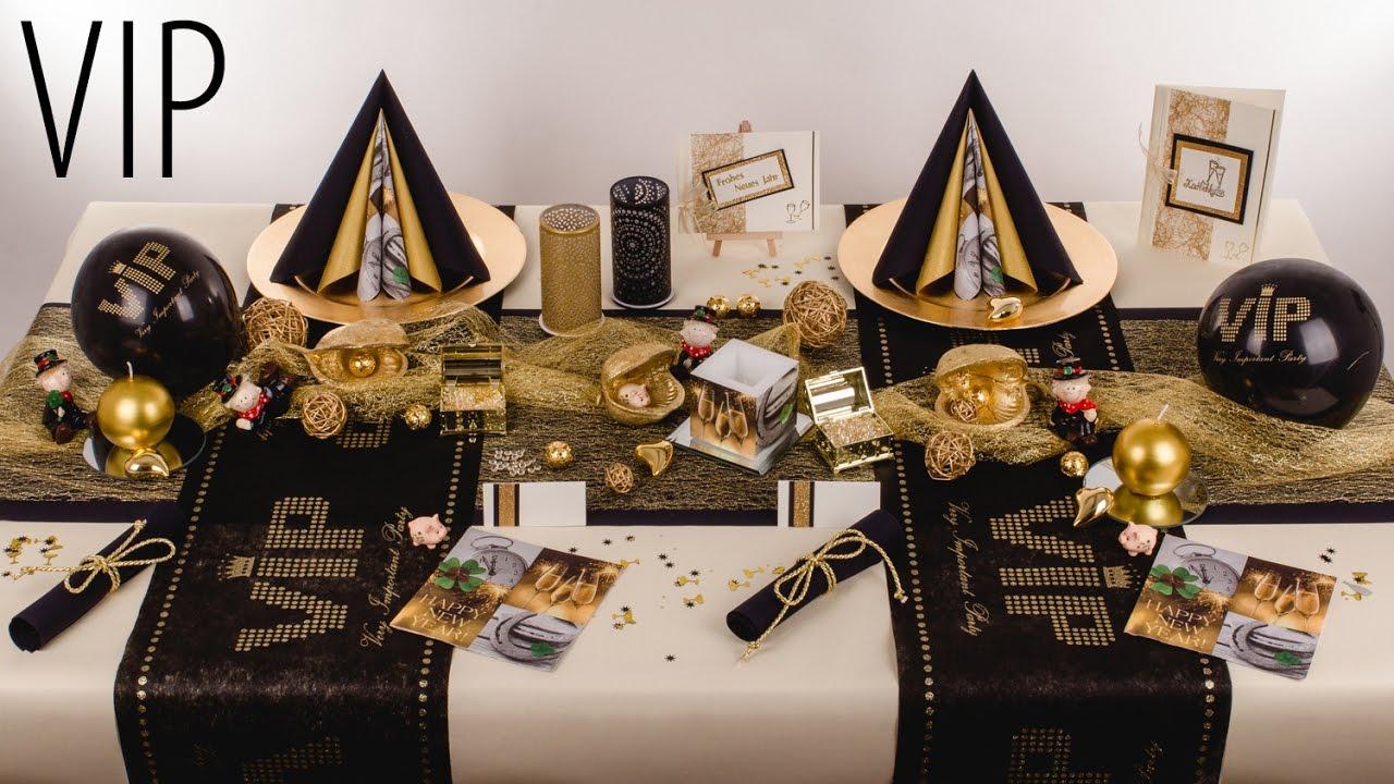 Silvesterdeko mustertische vip deko ideen youtube for Silvester dekoration ideen