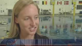 Woman Diver Trains Spacewalkers Underwater