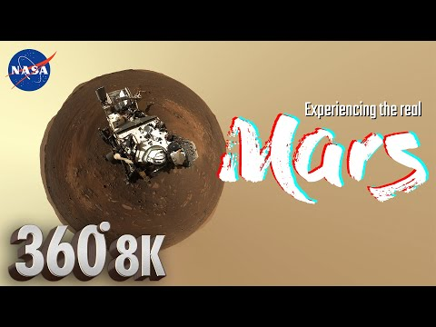 Mars 8K 360° Virtual Tour by Mastcam-Z on Perseverance Rover + Martian wind sounds 🎧