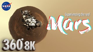 1st Mars 8K 360° Virtual Tour by Mastcam-Z on NASA's Perseverance Rover + Martian wind sounds 🎧