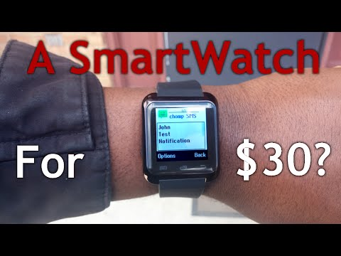 $30 Smartwatch for Android/iOS?  -  INDEPTH review! (uWatch U8 / U80)
