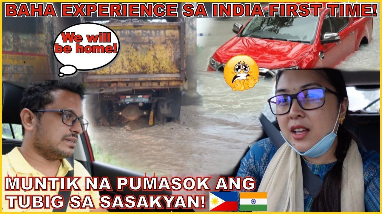 BUHAY SA INDIA: PUMUNTA NG CITY! NAABOTAN NG BAHA! MUNTIK NA PUMASOK ANG TUBIG SA SASAKYAN! 😱