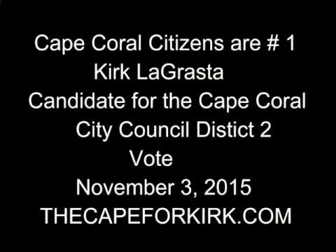 Candidate Kirk Lagrasta on Radio,Listen to his Plans for Cape Coral!